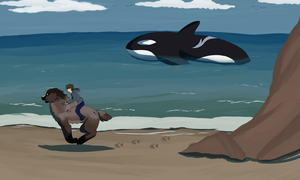 Weekly Quest- Race Against the Wolf of the Ocean by dark-dragmon