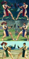 USF4 Mod - Chun Li: Mai Shiranui Cosplay (Feet) by Segadordelinks