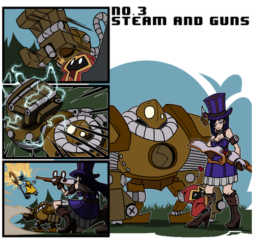No.3 steam and guns by Wrriter