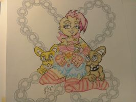 pink pin up coloured by skullpunk666girl