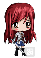 Erza and her Sword by IcyPanther1