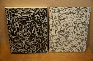 some black and white squares by amzil
