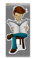 Mr. Serious. by binichs