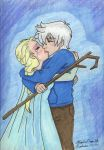 Elsa and Jack by AngelicDragonElf