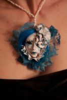 ooak art doll face pendant by cliodnafae27
