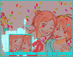 Signature Banner: Lovely Complex: Risa and Otani by bakaprincess85