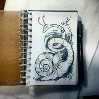 Instaart - Two-headed snail by Candra