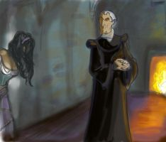 Retouched Frollo drawing. by naly202