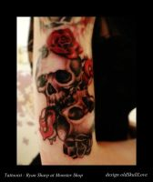 My art on tattoo by Ryan Sharp by oldSkullLovebyMW