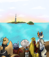 To the island by SkullCollectorCubone