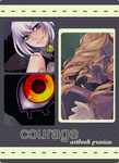 Courage Charity Artbook : Preview by akiicchi