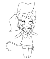 Rin Kagamine - Lineart by SaphireAdopt