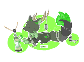 New Species: Spiritals: Green Flame (CLOSED) by Dawn-leo