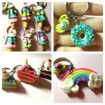 Polymer clay sweets by kittyangelprincess