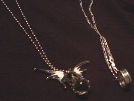 Necklaces from a friend by Okitakehyate