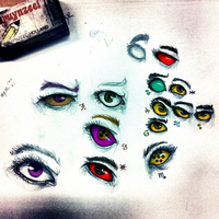 a bunch of eyes by Magdaleen-96