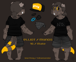 Elliot Ref Sheet by Fettergeist