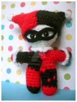 Harley Quinn Amigurumi doll by pirateluv