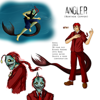 [Tokyo Ghoul OC] Northon Copper/Angler Ref by ChesterPalm