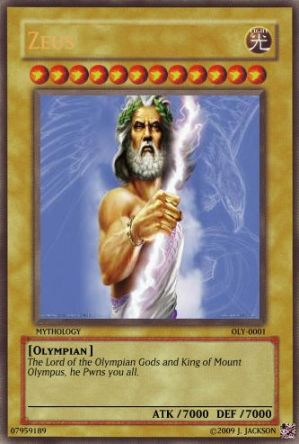 Zeus trading Card Game