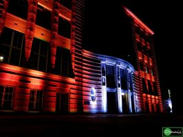 Front of University at Nacht des Wissens Hamburg by Xfluegge