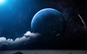 Moon View Fantasy Wallpaper by adamt4050