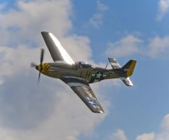 P51 Mustang in the sun by davepphotographer