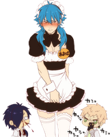 DRAMAtical Murder Render - Aoba Seragaki || Maid by WhateverheadDrop