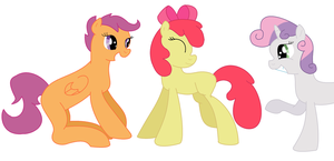 the cutie mark crusaders by coolmlpfangirl450