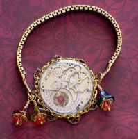 Czech Glass Steampunk Bracelet by cjgrand