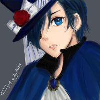 Ciel Phantomhive by littlemissmarikit