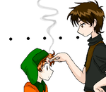 Old pic: Mole and Kyle by LazyOrca