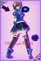 [700 Watchers Gift] - TDA MEIKO Blue Crystal DL - by ChocoFudge98
