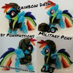 Rainbow Dash Custom Military Plush by Ponypassions by ponypassions