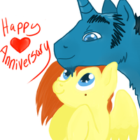 Happy Poniversary by laffatgravity