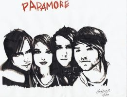 Black And White Paramore by Bleachedmilla
