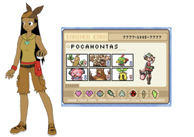 Pocahontas Pokemon Trainer by 516tigergirl