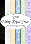 Vintage Digital Papers by DesiraeR