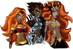 YJ vol 2 - Villain Ladies by UltimeciaFFB