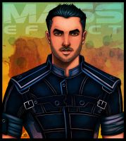 Mass Effect - Kaidan Alenko (version 2) by lux-rocha