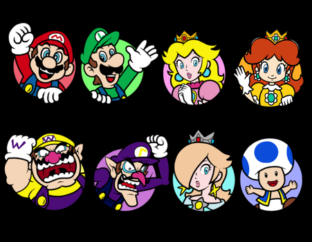 Super Mario real Icons by earthbouds