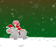 Hippo For Christmas by OfficialChii24