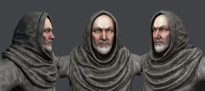 Monk Face - Textured by ivilai