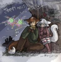 -A foxy New Year 2010- by Chouuu