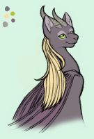 Colored Catdragon by merrypaws