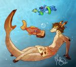 Jay and Pudge the fish by Shortcake-Middy