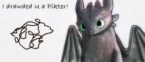 Toothless, the Night Fury by BlackGryph0n