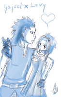 Fairy Tail: Gajeel x Levy by Aqllite