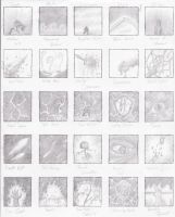 Dark Spells 1 Sketches by Ai1ment