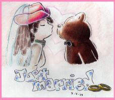 The cow girl and the bear by abshy